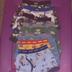 Nintendo, Gap and Disney underwear size 4-5